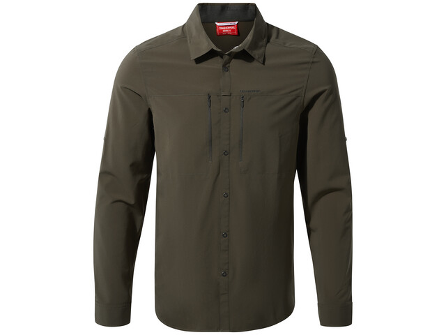 Craghoppers NosiLife Pro Longsleeve Shirt Heren, woodland green
